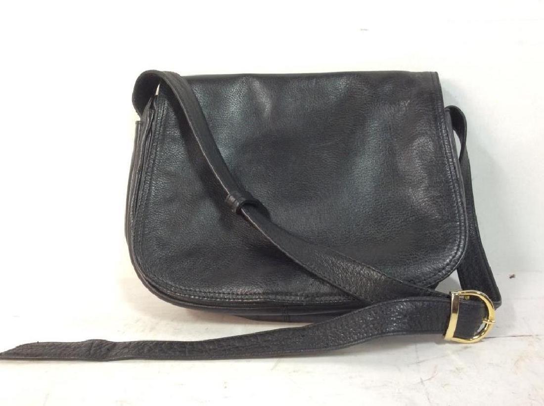 Black Toned Faux Leather Purse