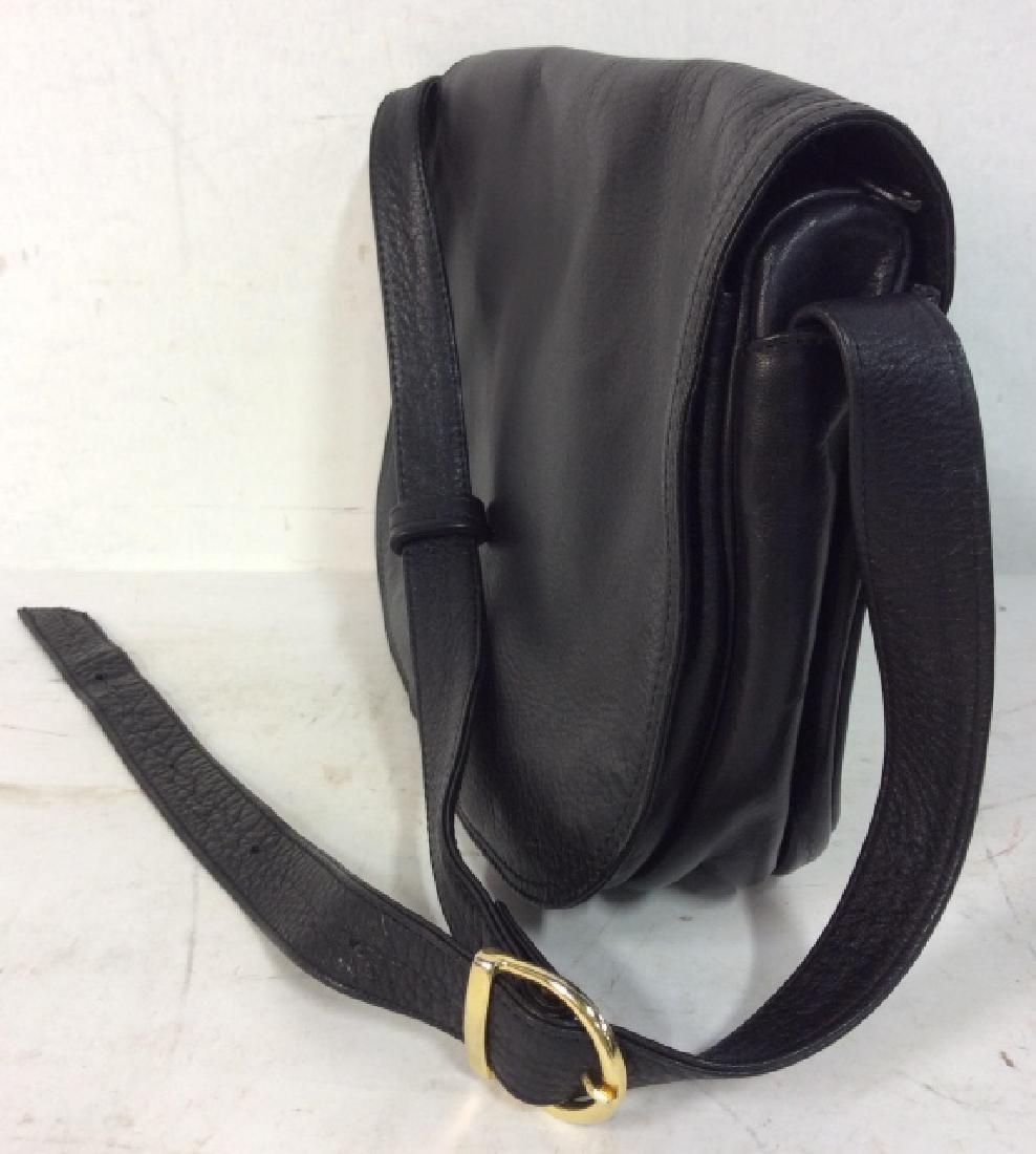 Black Toned Faux Leather Purse - 2