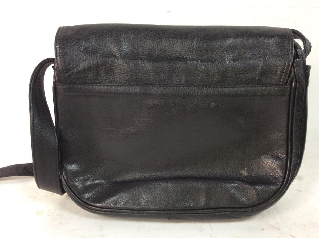 Black Toned Faux Leather Purse - 3