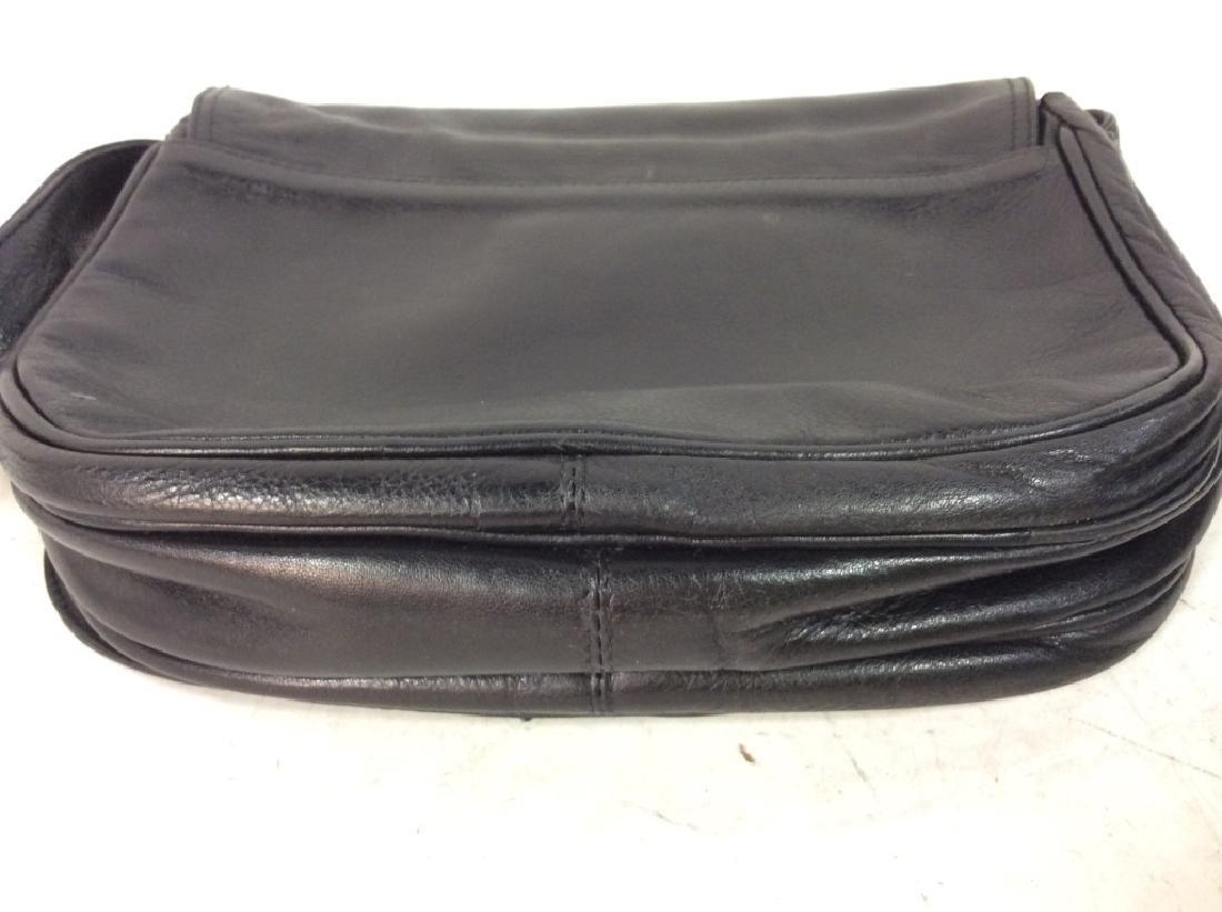 Black Toned Faux Leather Purse - 5