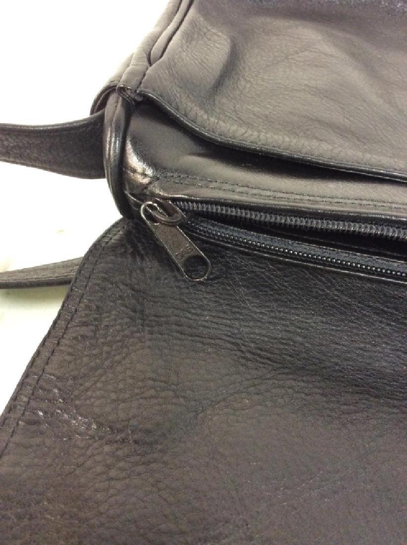 Black Toned Faux Leather Purse - 8