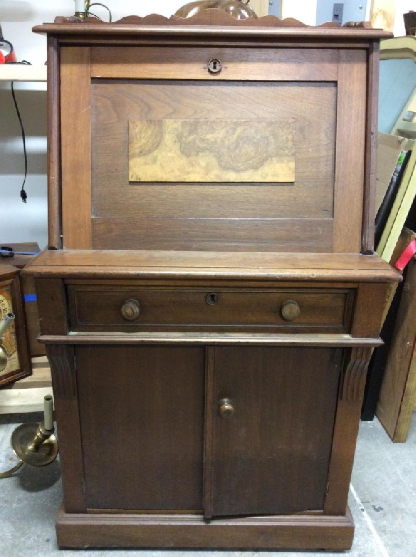 Vintage Wooden Fall Front Writers Desk