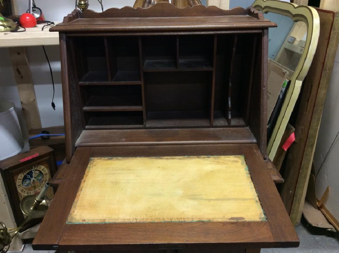 Vintage Wooden Fall Front Writers Desk - 2