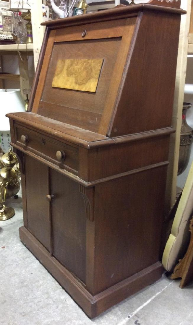 Vintage Wooden Fall Front Writers Desk - 5