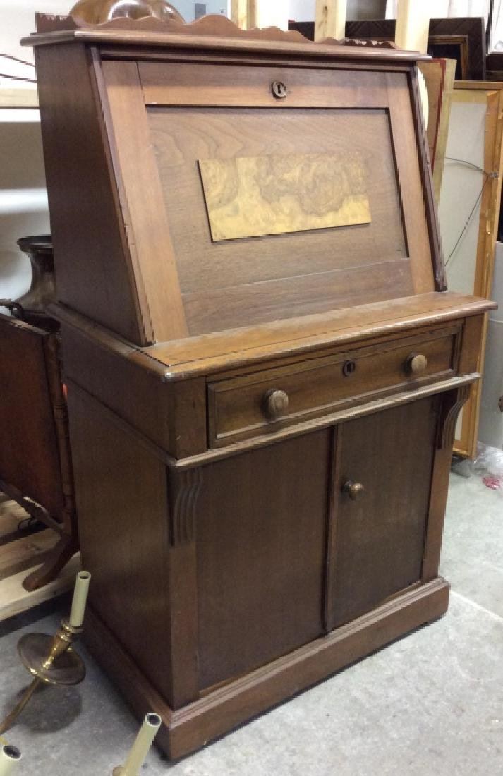 Vintage Wooden Fall Front Writers Desk - 6