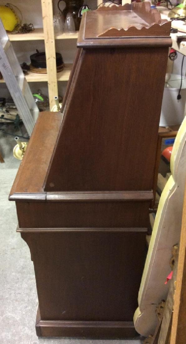 Vintage Wooden Fall Front Writers Desk - 7