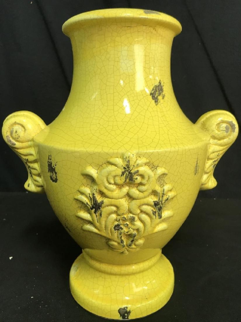 Sunshine Yellow Ceramic Vase