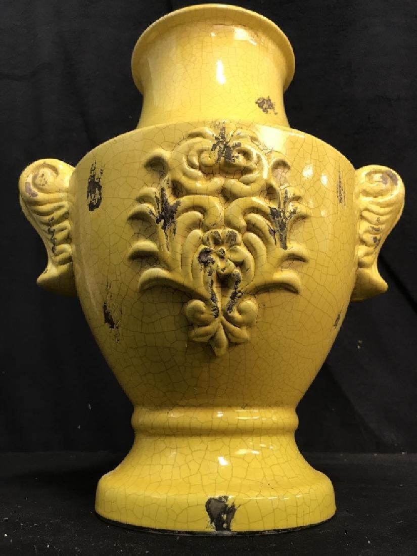 Sunshine Yellow Ceramic Vase - 2