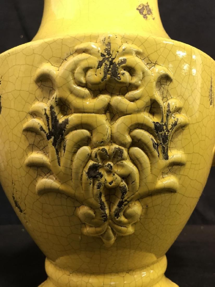 Sunshine Yellow Ceramic Vase - 3