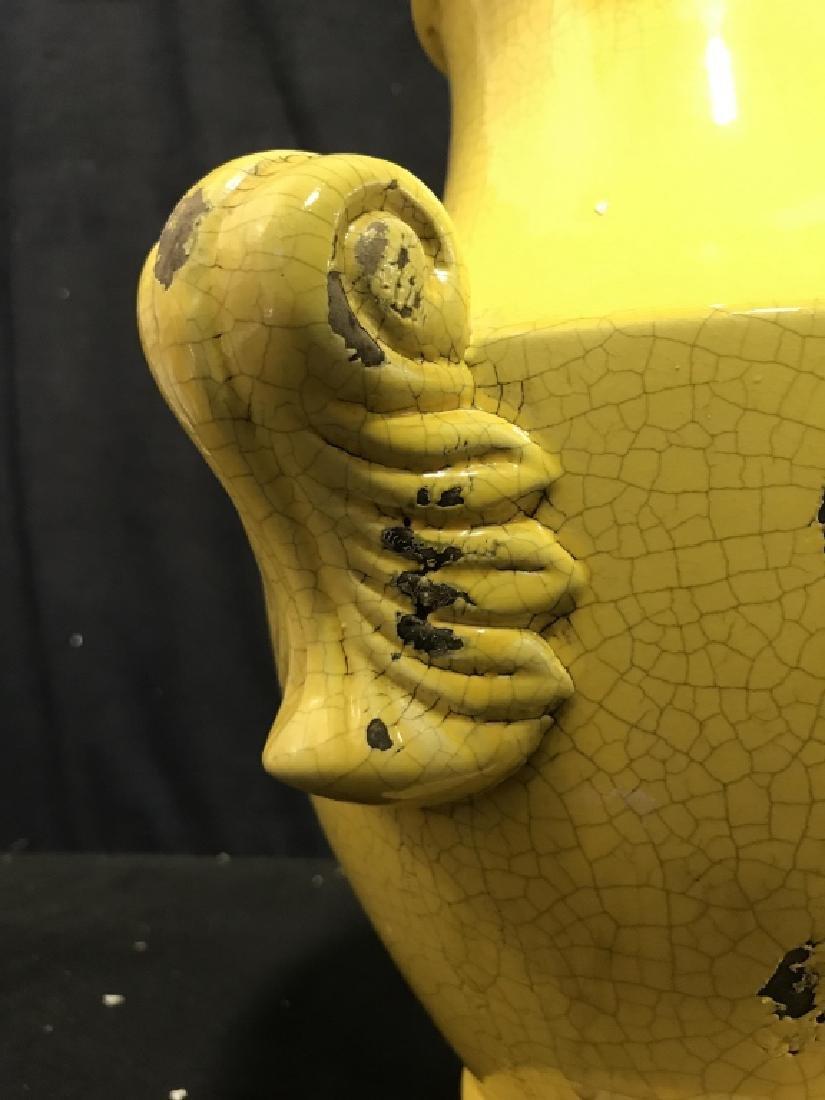 Sunshine Yellow Ceramic Vase - 4
