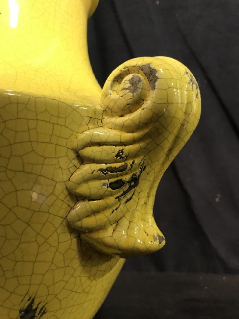 Sunshine Yellow Ceramic Vase - 5