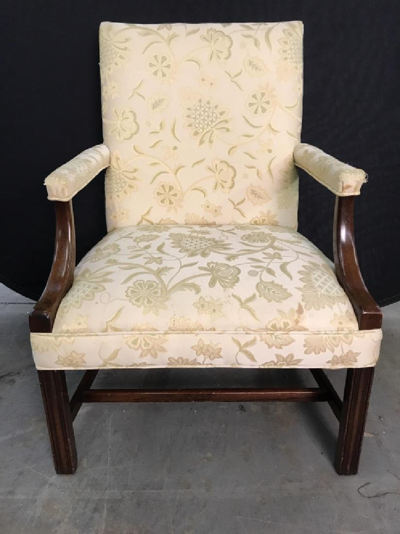 HICKORY CHAIR Upholstered Wooden End Chair