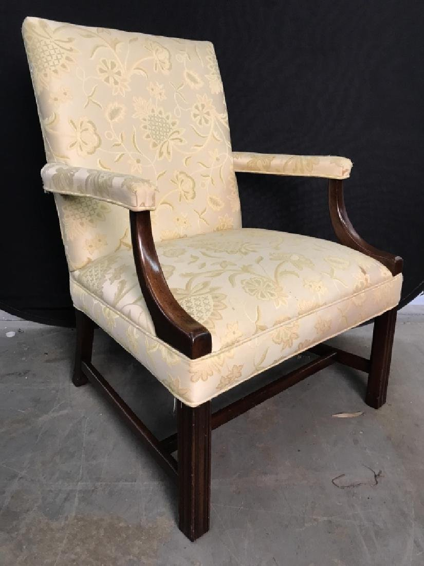 HICKORY CHAIR Upholstered Wooden End Chair - 2
