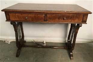 Low Standing Vintage Wood Child S Writing Desk