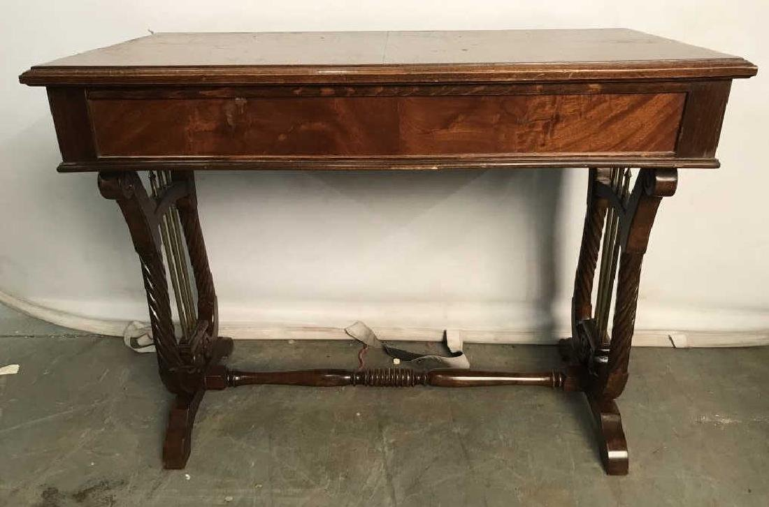 Low Standing Vintage Wood Child's Writing Desk - 7
