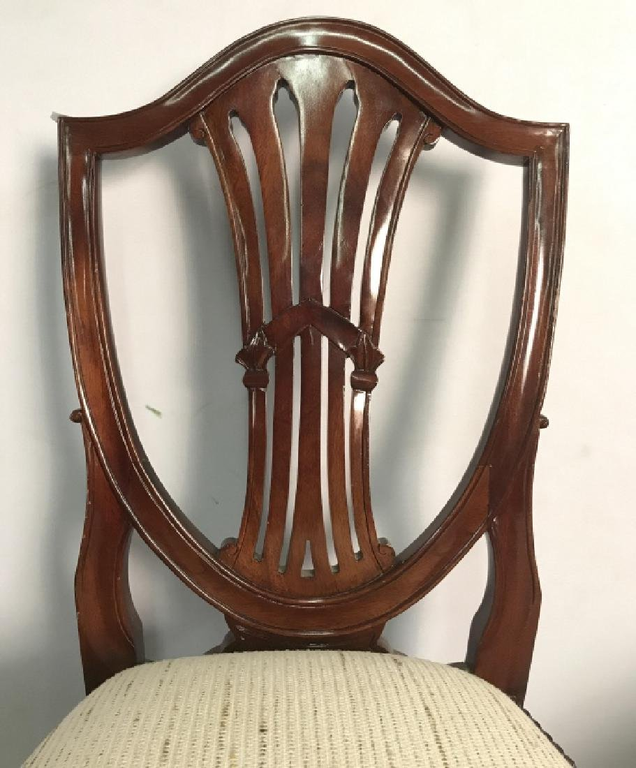 Set 4 Vintage Dining Chairs Hepplewhite Shield - 4