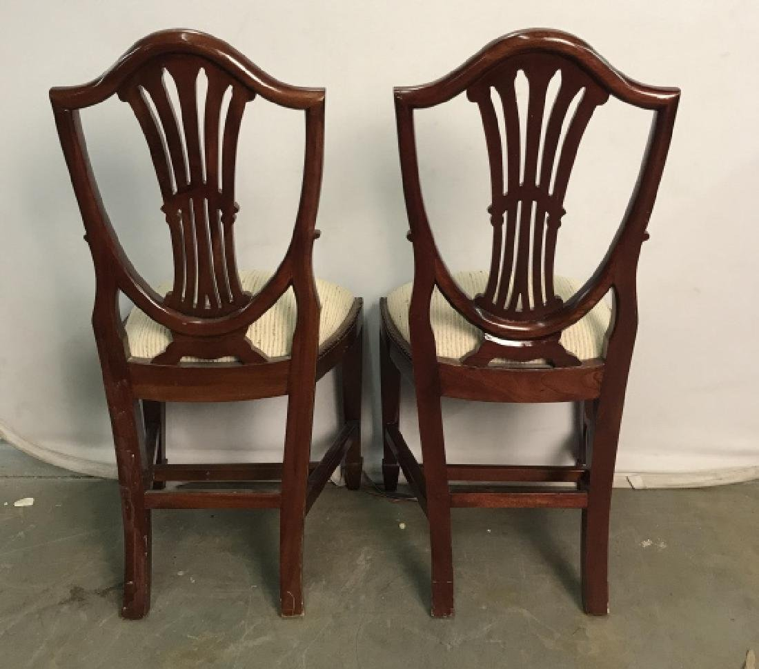 Set 4 Vintage Dining Chairs Hepplewhite Shield - 8
