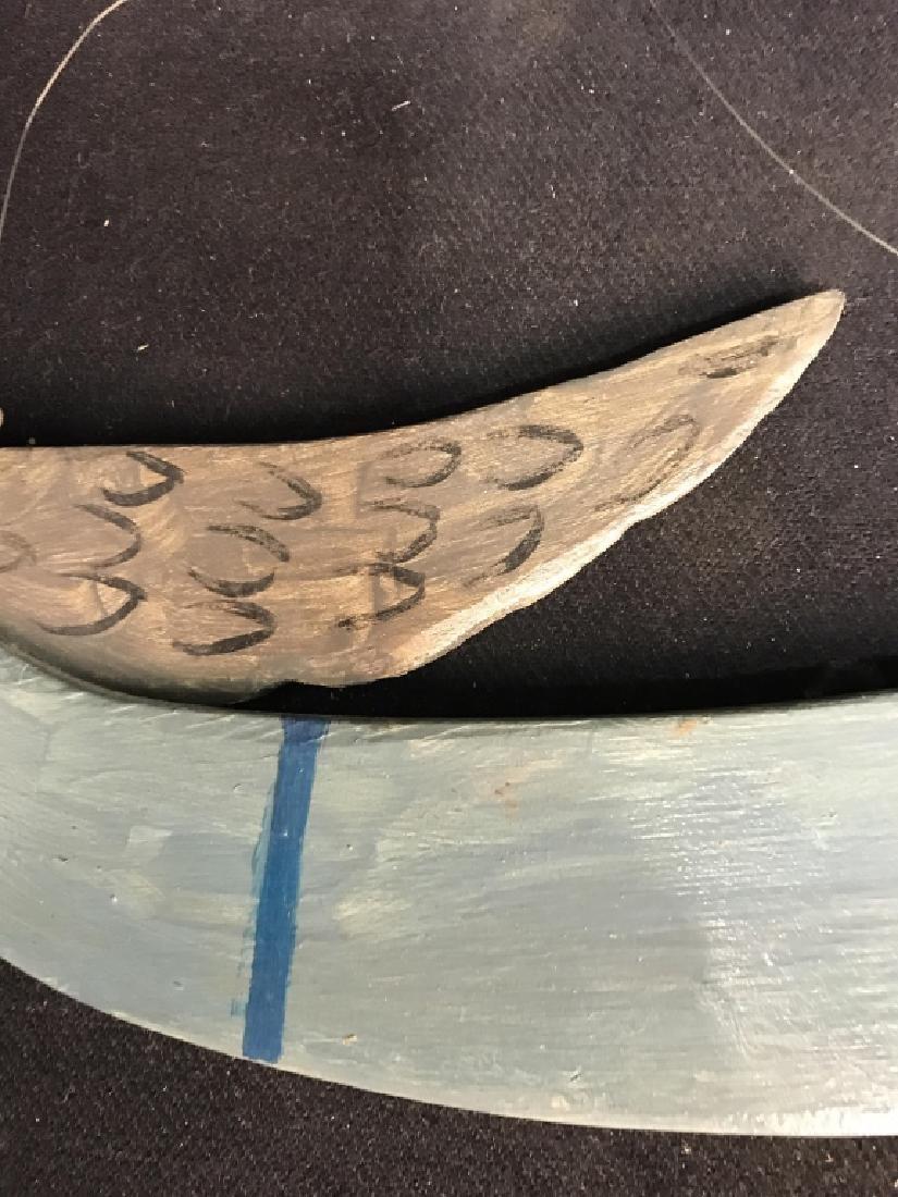 Vintage Carved Wood Folk Art Angel - 6