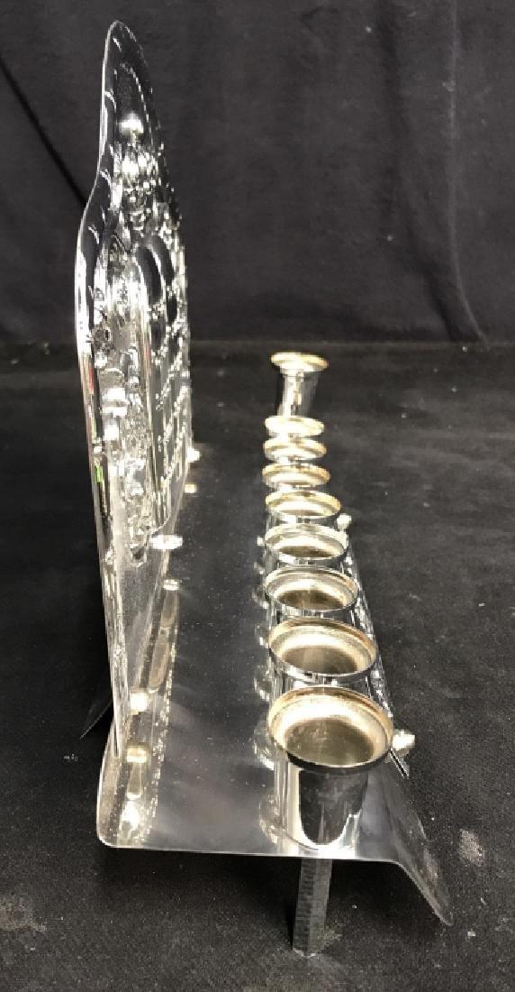 Silver Toned Judaica Menorah - 5