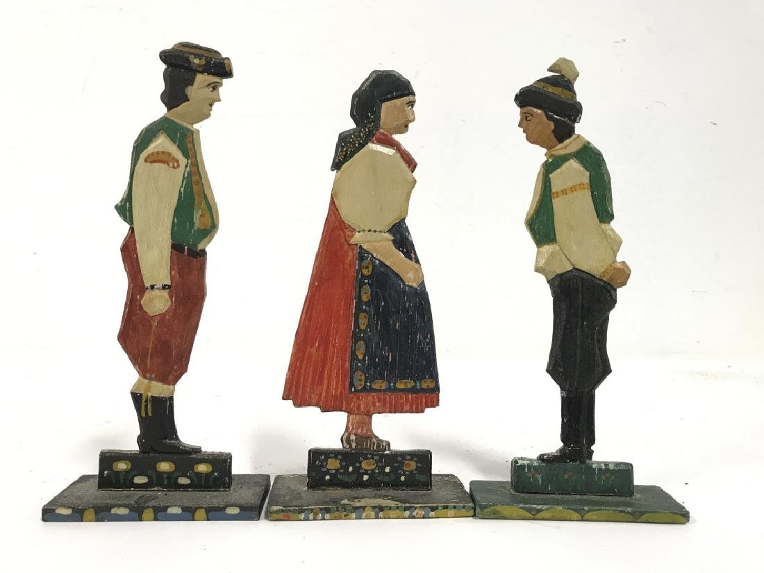 Lot 30 Vintage Hand Painted Folk Art Figurals - 10