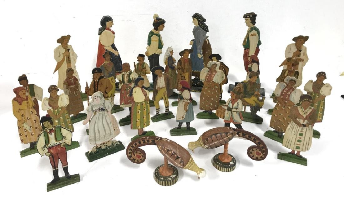 Lot 30 Vintage Hand Painted Folk Art Figurals