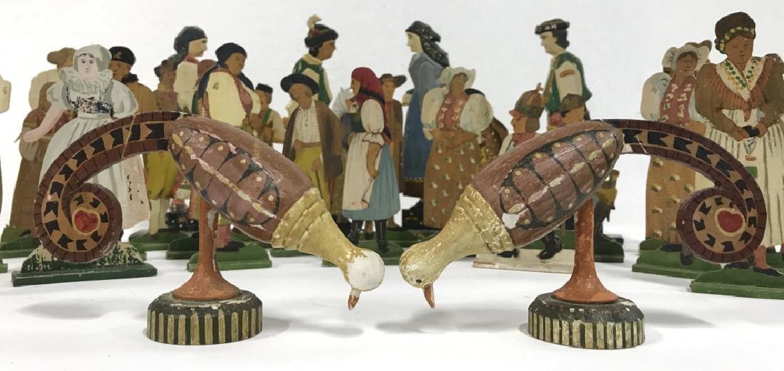 Lot 30 Vintage Hand Painted Folk Art Figurals - 2