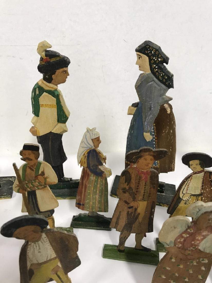 Lot 30 Vintage Hand Painted Folk Art Figurals - 3