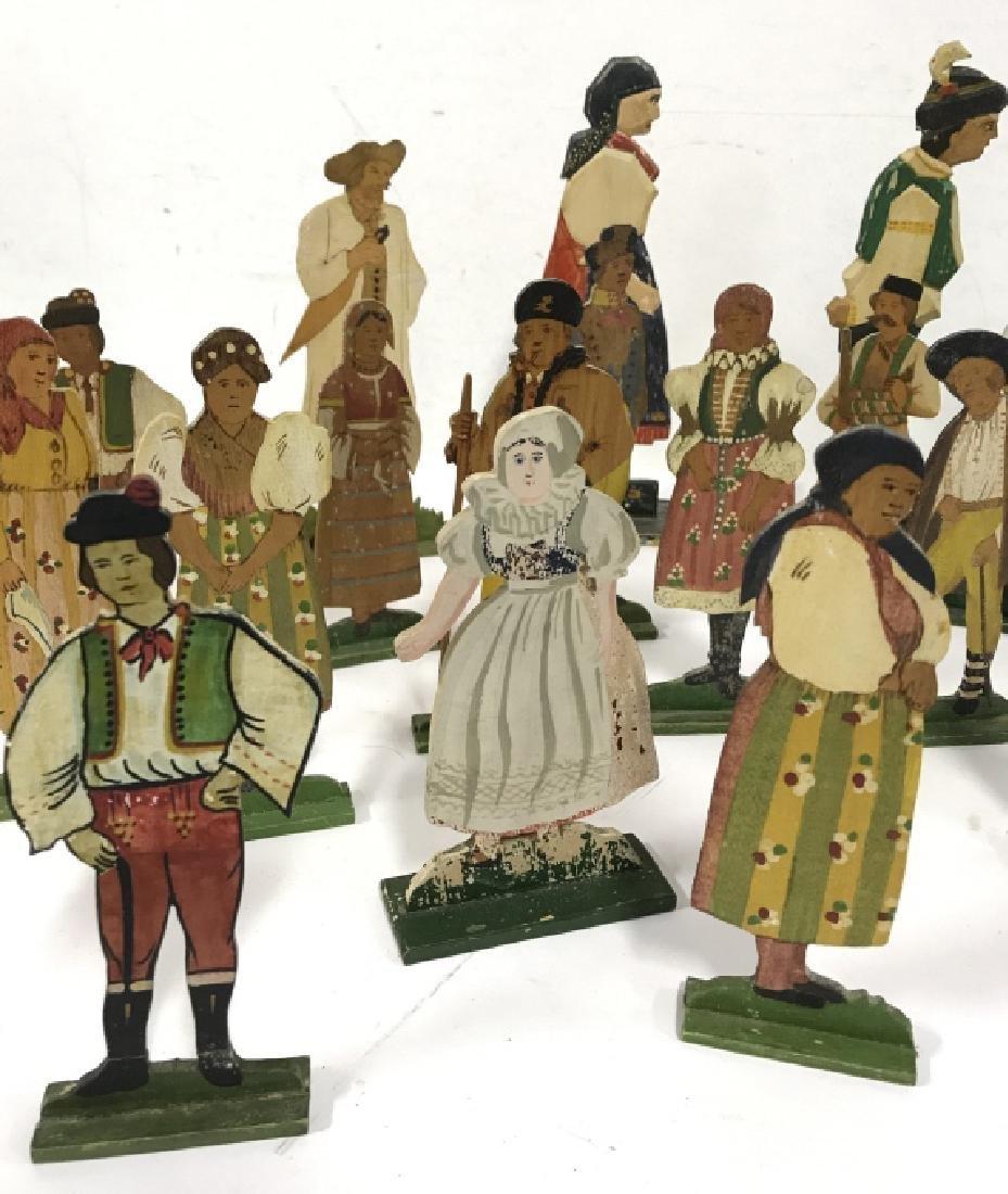 Lot 30 Vintage Hand Painted Folk Art Figurals - 4