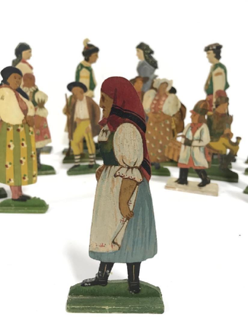 Lot 30 Vintage Hand Painted Folk Art Figurals - 5