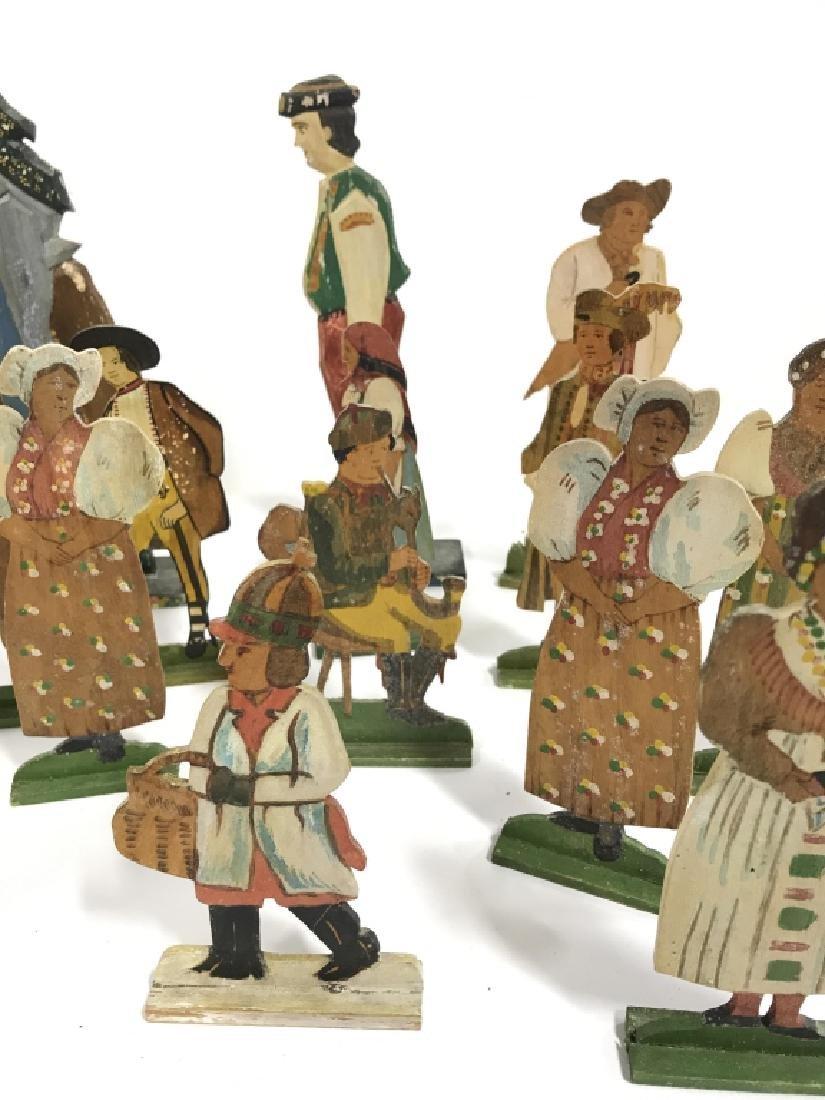 Lot 30 Vintage Hand Painted Folk Art Figurals - 6