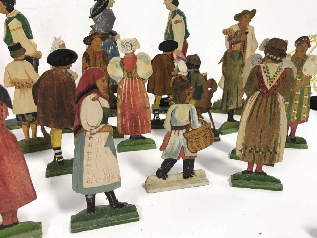 Lot 30 Vintage Hand Painted Folk Art Figurals - 8