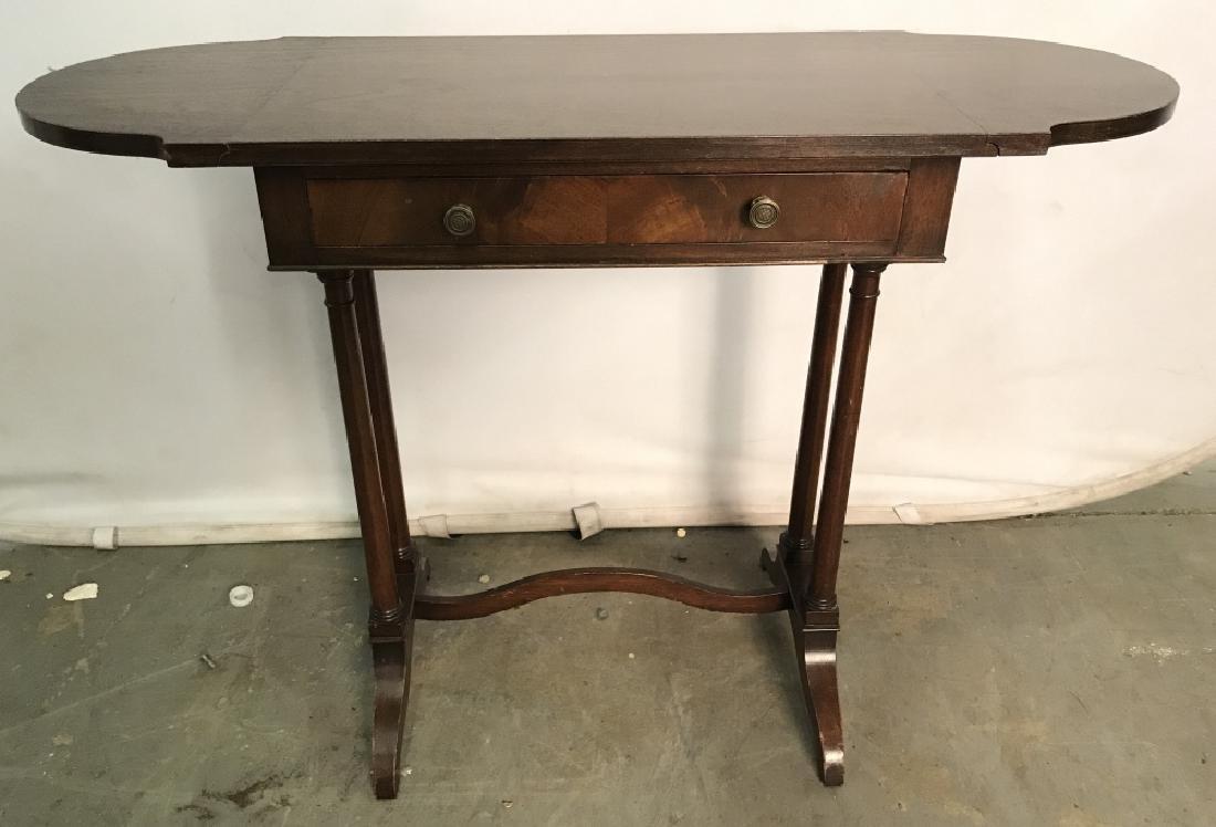 Vintage Wooden Drop Leaf Table W 1 Drawer