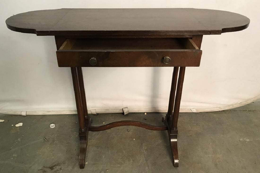 Vintage Wooden Drop Leaf Table W 1 Drawer - 2