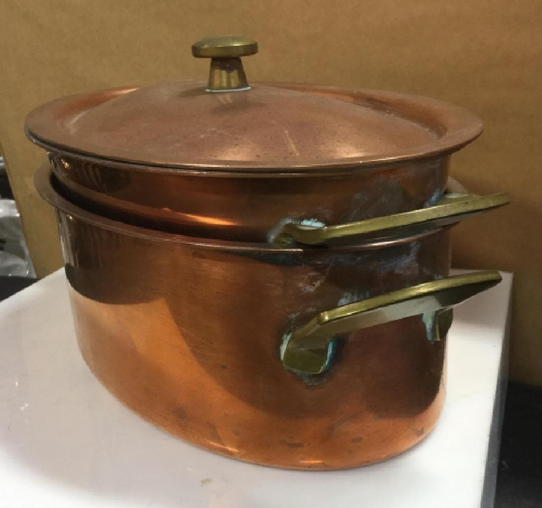 Culinox Copper Lidded Double Boiler - 3