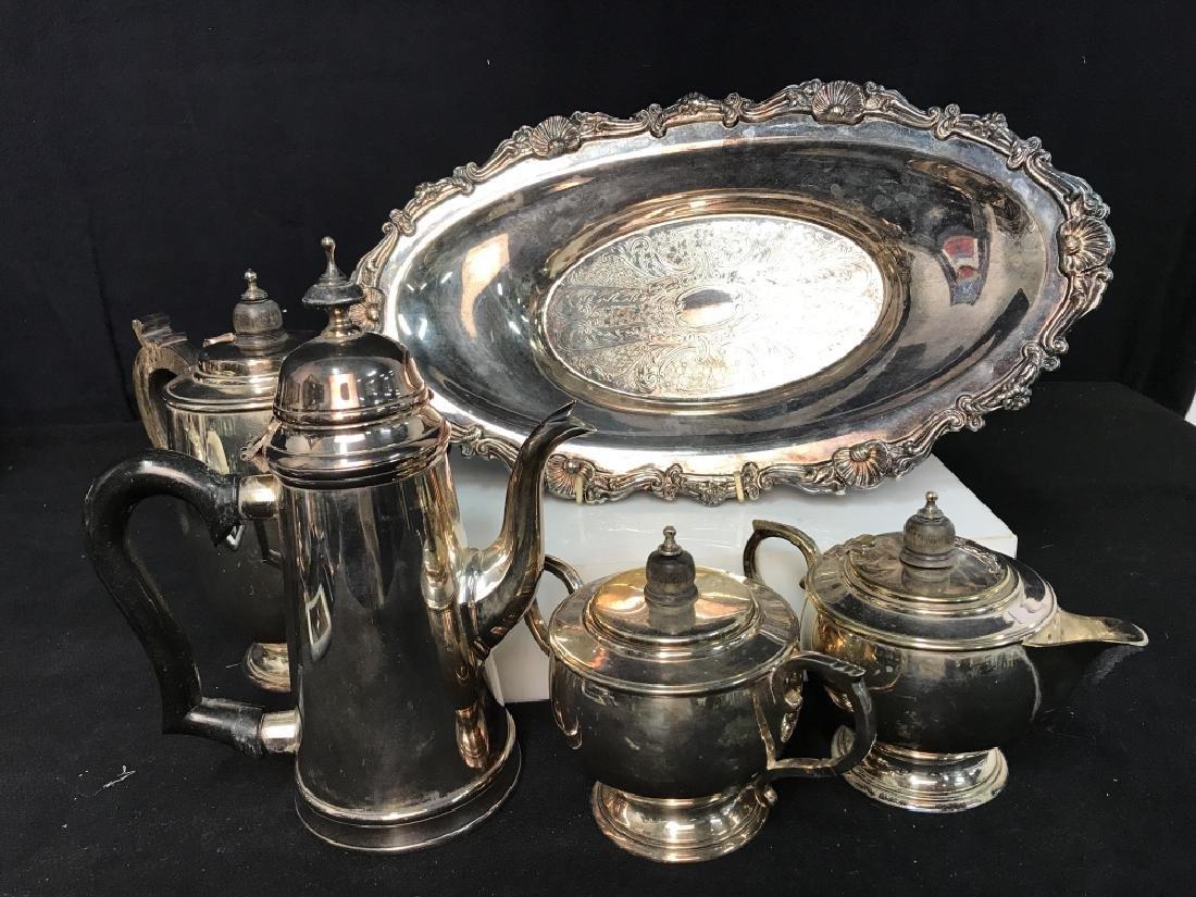 Silverplate tea service - 2