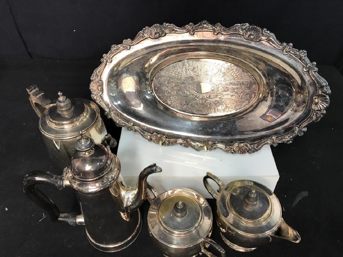 Silverplate tea service - 3