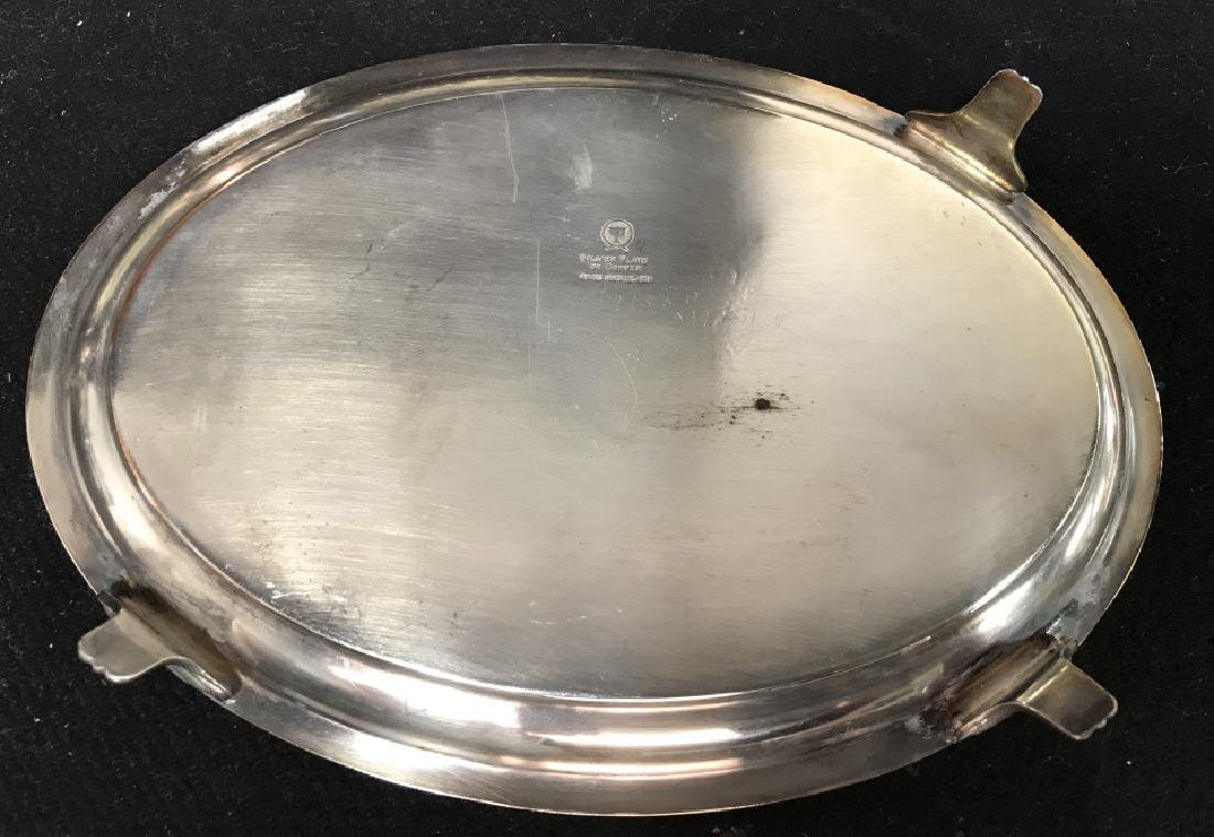 Silver plate Group lot of  Trays and Water Pitcher - 6