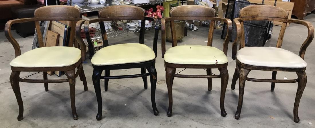 Set 4 Thonet Austrian Mid Century Bent Wood Chairs - 2