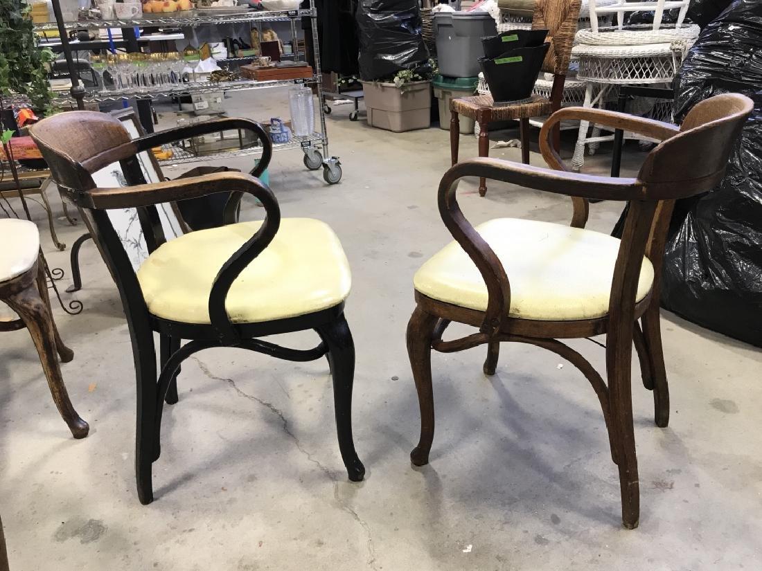 Set 4 Thonet Austrian Mid Century Bent Wood Chairs - 9