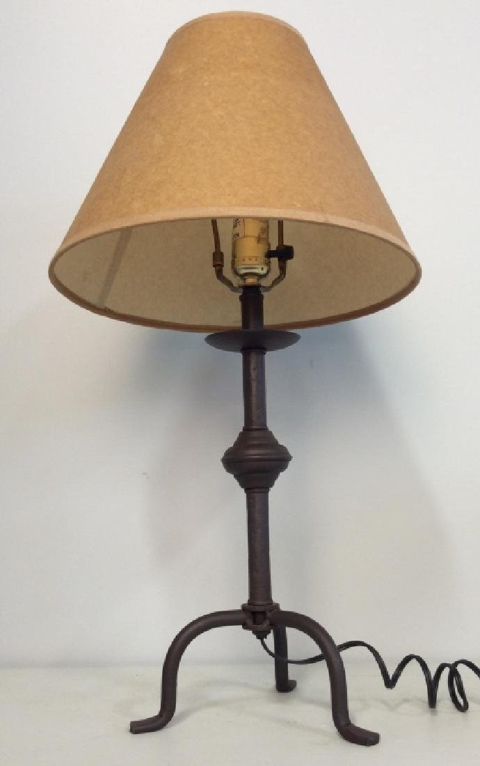 Painted Metal Iron Table Lamp W Shade