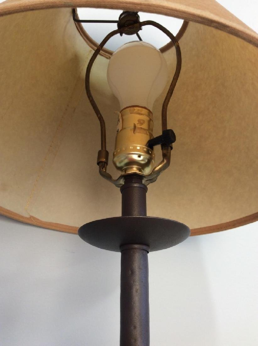 Painted Metal Iron Table Lamp W Shade - 5