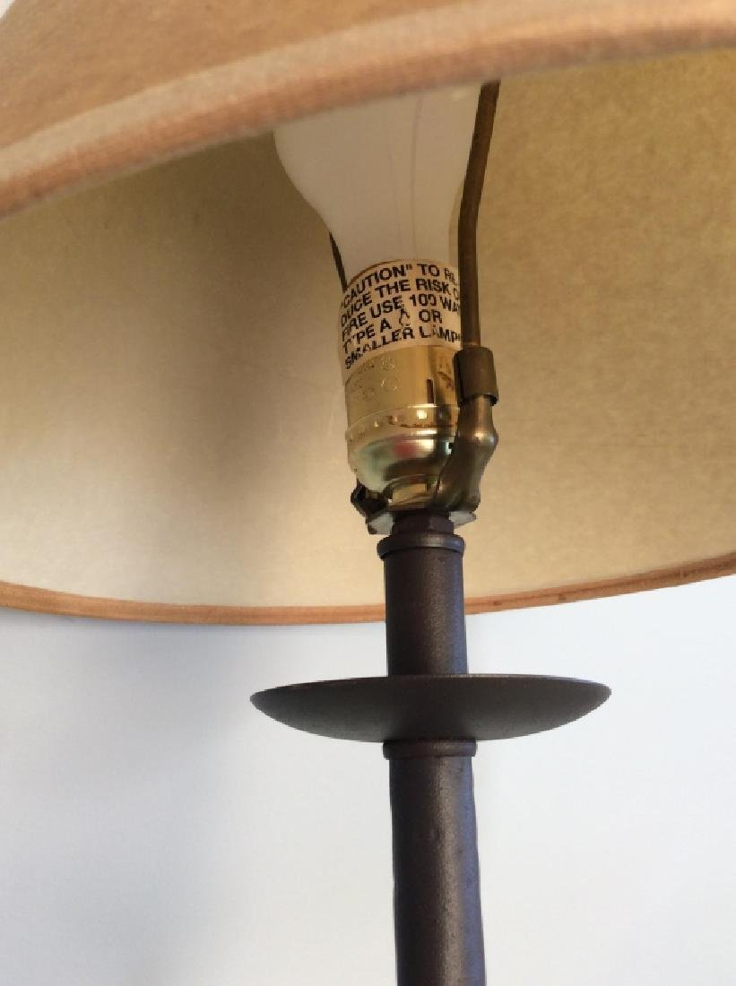 Painted Metal Iron Table Lamp W Shade - 6