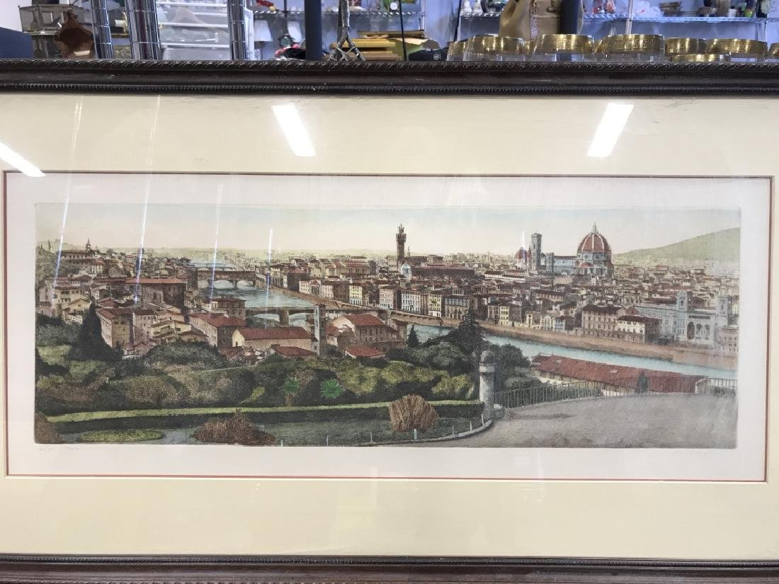Framed Signed Lithograph Etching Print - 2