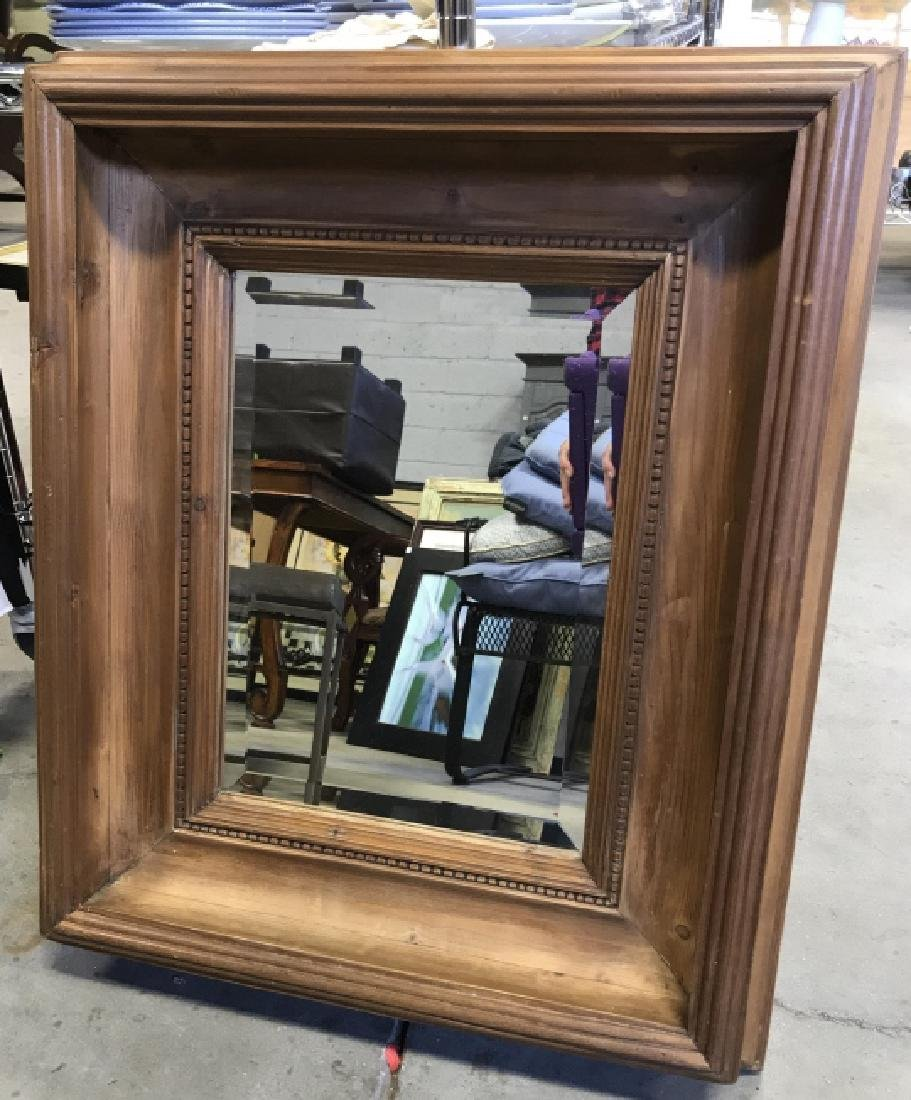 Carved Wooden Wall Mirror - 2