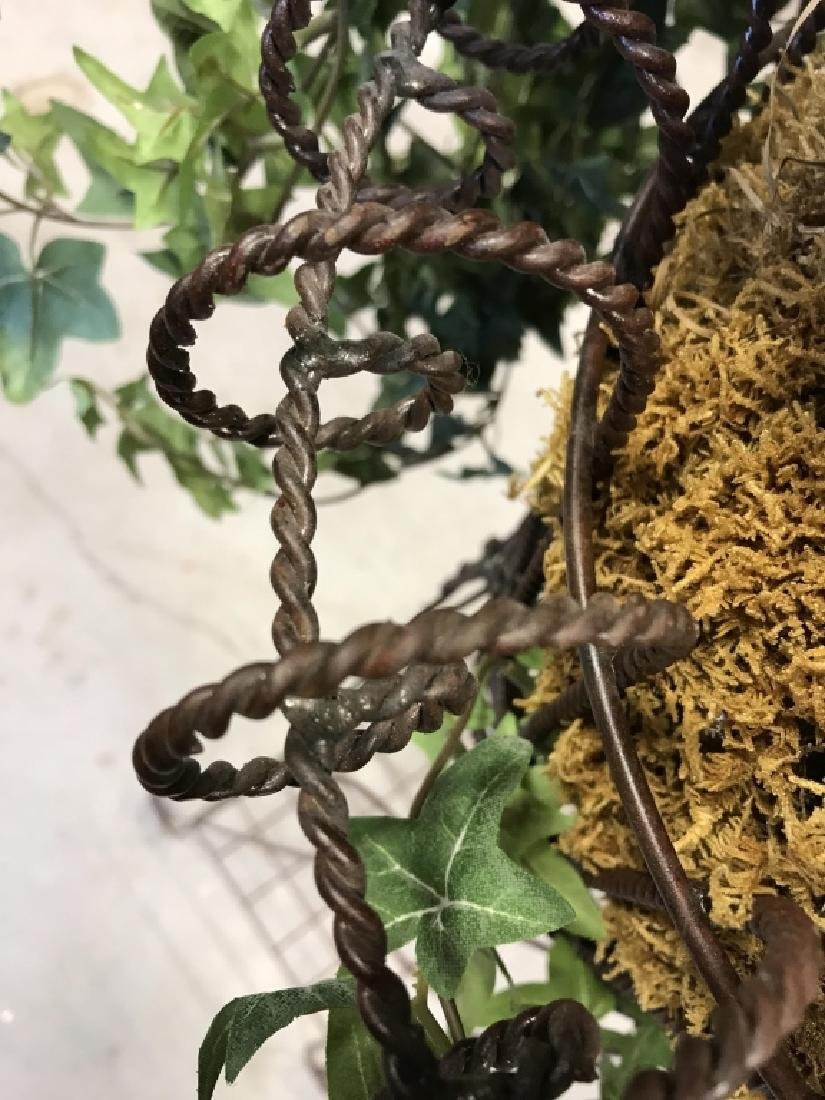 Pair Antique Metal Wire Plant Stands - 6