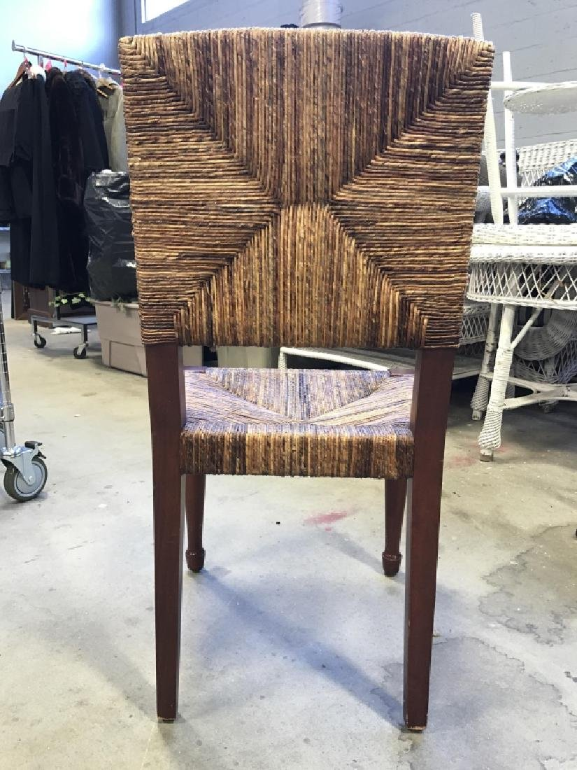 Wooden Chair W Rushed Seat And Back - 5