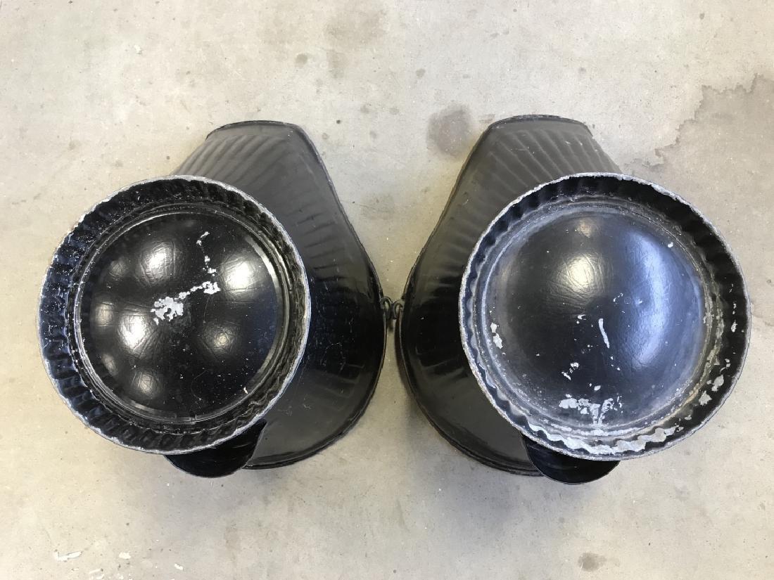 Pair Vintage Metal Scuttle Coal Buckets - 9