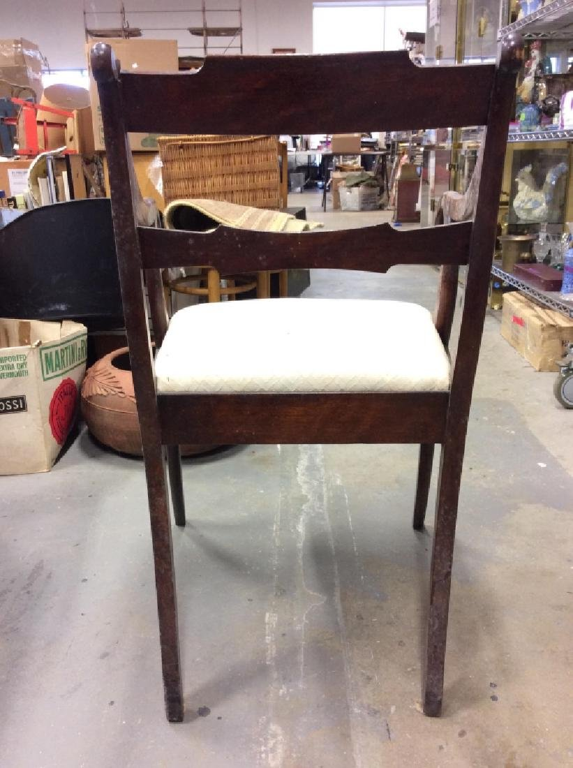 Vintage Wooden Cushioned End Chair - 5