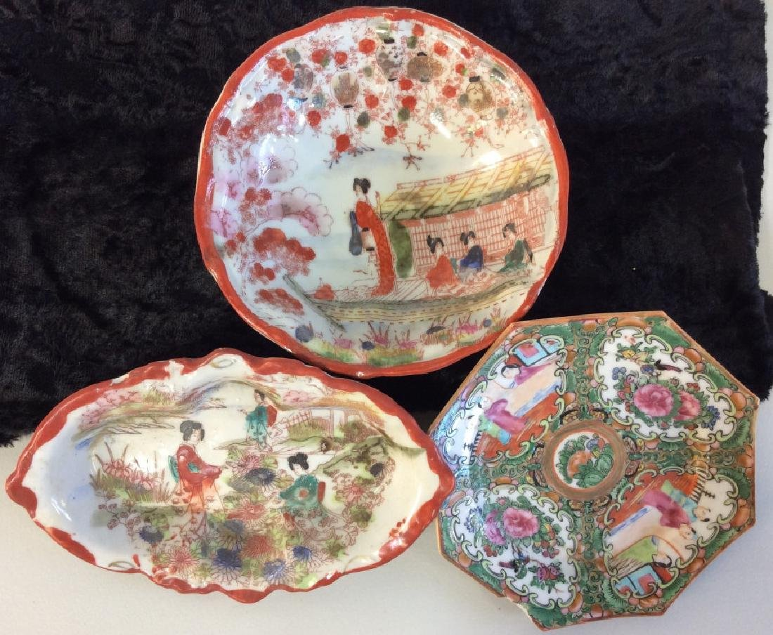 Group Lot of Asian Porcelain Dishes