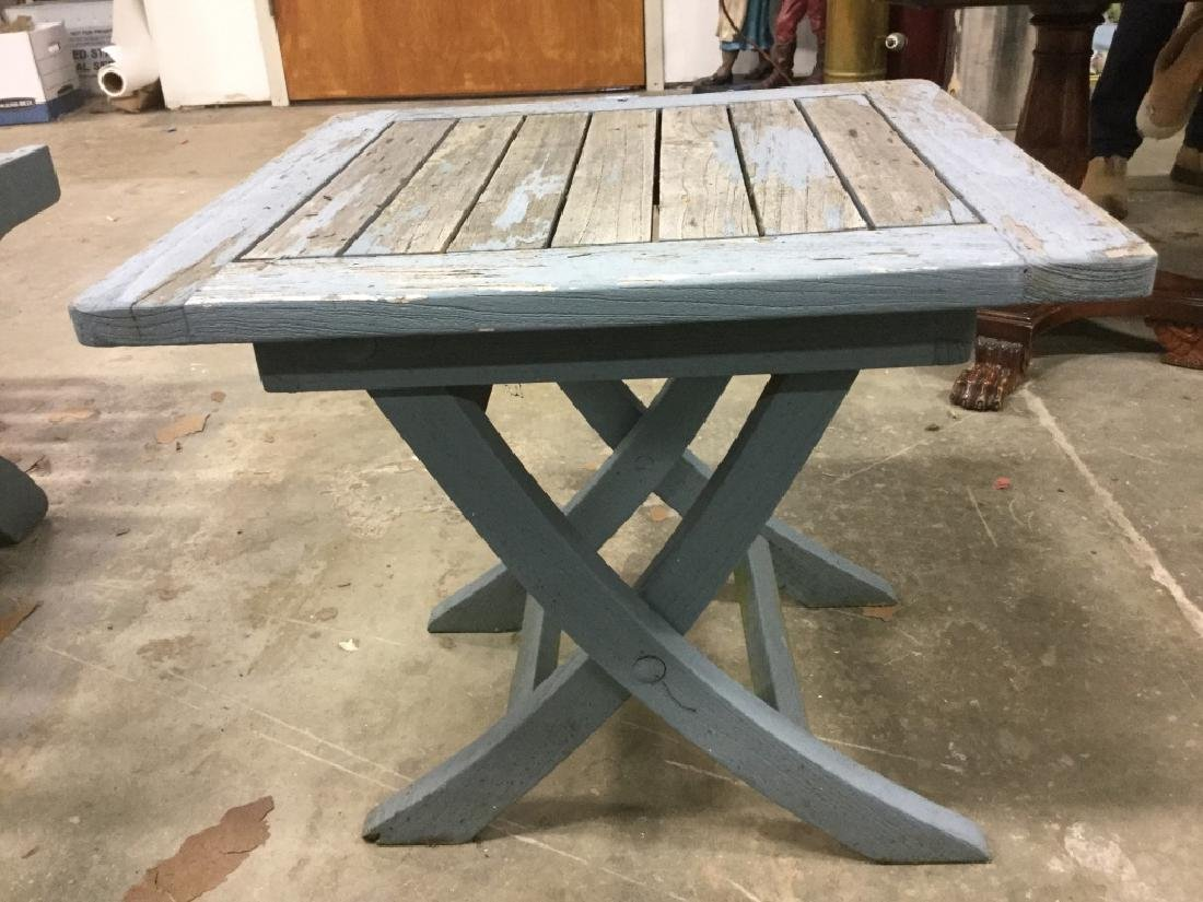 Lot 15 TEAK Light Blue Toned Furniture Set - 3